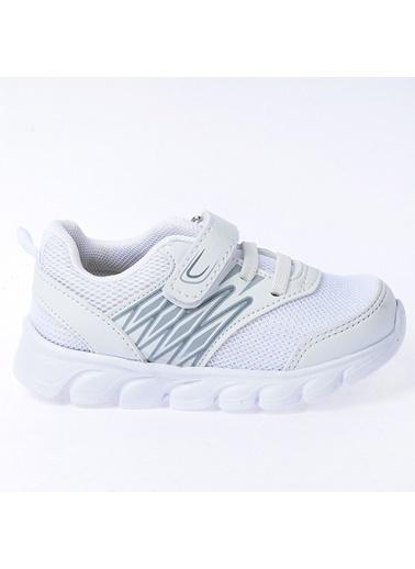 Kiko Kids Kiko S12 Günlük Fileli Cırtlı Kız/Erkek Çocuk Spor Ayakkabı Beyaz